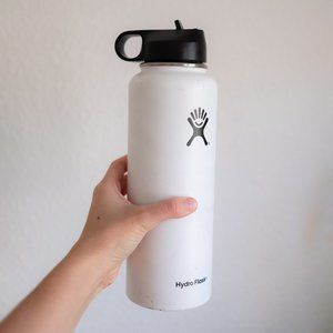 40oz Hydro Flask, white